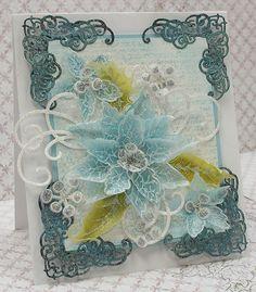 Featuring Heartfelt Creations' Sparkling Poinsettias die set SKU 660459, available at www.addictedtorubberstamps.com