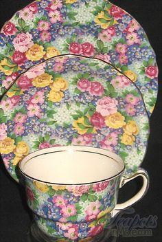 Royal Winton Julia Chintz Tea Cup & Saucer...beautiful piece of china history...