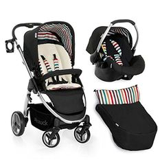 Hauck Lacrosse and Travel System - Stone. Pram, pushchair, car seat