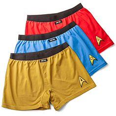 ThinkGeek :: Star Trek Boxer Brief Shorts 3-Pack