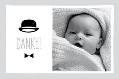 Dankeskarte Mini Gentleman by Marion Bizet für Rosemood.de #Danksagung #Babykarte #schick #newbaby #babygirl #babyboy