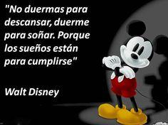 No duermas para descansar, duerme para soñar   Frases de Walt Disney - ⊹ Imágenes de Motivación ⊹
