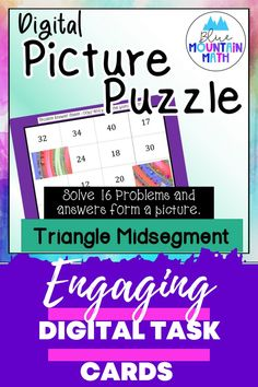 Looking for a fun way to practice finding the triangle midsegments with an engaging activity? This activity includes 16 problems in google slides where students will find the measures of lengths by looking at a diagram. Once they have their answer, they will copy the picture on the slide to their answer sheet. When they have solved all the problems, a picture will appear. Great practice for distance learning and classroom as well. Or assign for homework.
