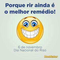 Pegamos emprestado o sorriso largo (e contagiante) desse emoticon para lembrar: hoje é o #DiaDoRiso. ;-)