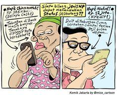 Mice Cartoon, Komik Jakarta - April 2015: Status HP