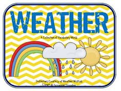 Weather Vocabulary cards. Awesome!!!2nd Grade Shenanigans: Making Up for LOST Time! {FREEBIES}