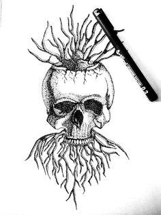 Skull Pointilis