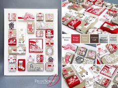 """Stampin'Up! by Djudi'Scrap - Tutoriel Calendrier de l'avent """"Papier Canne de Noel / Candy Cane Lane Designer Series Paper"""""""