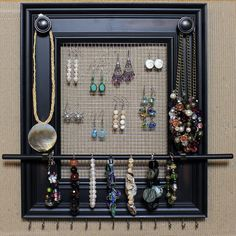 picture frame jewelry organizer