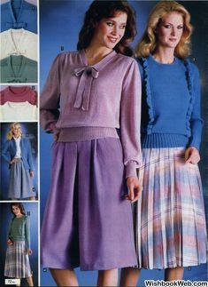 80s Fashion, Timeless Fashion, Vintage Fashion, Womens Fashion, Fashion Trends, Fashion Dresses, Blouse Dress, Dress Skirt, Vintage Outfits