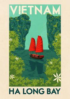 #Vietnam Travel poster