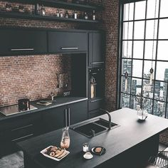 37 Top Kitchen Trends Design Ideas and Images for 2019 Part kitchen ideas; Top Kitchen Trends Design Ideas and Images for 2019 Part kitchen ideas;Home Wall Ideas Home Decor Kitchen, Kitchen Interior, Home Interior Design, Interior Ideas, City Kitchen Ideas, Brick Interior, Loft Kitchen, Coastal Interior, Eclectic Kitchen