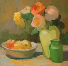 Flowers and Fruit | Kathryn Townsend Painting Studio