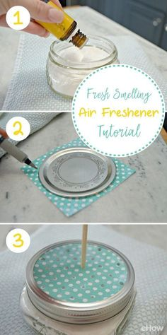 Fresh Smelling Air Freshener Tutorial Air fresheners can be harsh and full of unknown ingredients. Homemade Cleaning Products, Cleaning Recipes, Natural Cleaning Products, Cleaning Hacks, Cleaning Quotes, Homemade Air Freshener, Car Freshener, Diy Air Fresheners, Diy Cleaners
