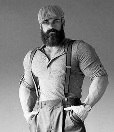 48 Stylish big men& fashion for copying # Stylish big men& fashion Hot Beards, Great Beards, Awesome Beards, Large Men Fashion, Mens Fashion, Barba Grande, Moda Formal, Style Masculin, Look Man