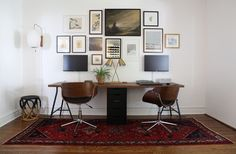 Two-Person Desk and Gallery Wall | ProjectPalermo | Bloglovin'                                                                                                                                                                                 More