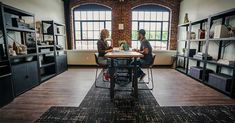 Corporate Flooring: The Trades Mill from Parterre Flooring. View our extensive collection of professional grade vinyl flooring today! Luxury Vinyl Flooring, Luxury Vinyl Tile, Luxury Vinyl Plank, Vinyl Tiles, Coworking Space, Interior Design, Furniture, Home Decor, Nest Design