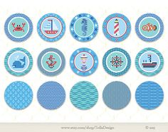 Sea party  Personalized DIY printable Cupcake by SollaDesign, $4.50