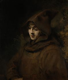Rembrandt  -  	Rembrandt's son Titus in a monk's habit, 1660 http://commons.wikimedia.org/wiki/File:Rembrandt_van_Rijn_-_Rembrandts_zoon_Titus_in_monniksdracht_%28Rijksmuseum_Amsterdam%29.jpg