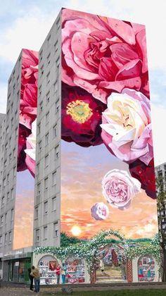 La Fresque des Roses – Lyon 8è – Inaugurée le 20 juin 2011