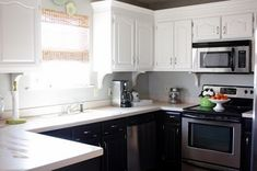 1000 images about bi color kitchens on pinterest for Bi colored kitchen cabinets