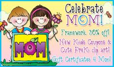 This week's sales & specials are all to help you Celebrate Mom & save!  Even our FREEBIE is dedicated to Mom! Shop now! These deals go away May 6, 2015...