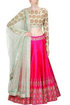 Silk Pink & White Latest New Designer Lehenga Choli