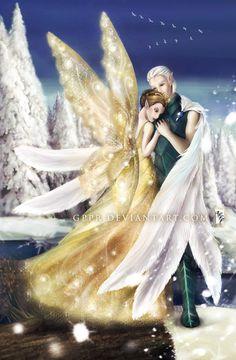 Queen Clarion amd Lord Milori...this is so beautiful! Disney Fairies