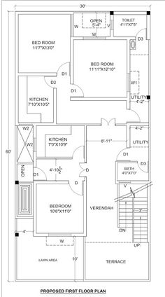 1800 Sq Foot House Plans Awesome House Plan for 30 X 60 1800 Sq Ft Housewala 2bhk House Plan, Simple House Plans, Model House Plan, Duplex House Plans, House Layout Plans, Duplex House Design, Family House Plans, Country Style House Plans, Craftsman Style House Plans