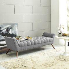 Modway Response Upholstered Bedroom Bench & Reviews | Wayfair