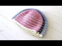 VERY EASY crochet fleck stitch hat / beanie tutorial - baby & children's sizes - YouTube