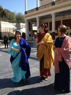 colorful Roman costuming