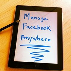 New Facebook App to manage pages
