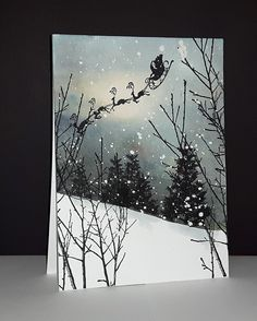 Painted Christmas Cards, Watercolor Christmas Cards, Christmas Cards To Make, Watercolor Cards, Xmas Cards, Christmas Art, Holiday Cards, Watercolour, Penny Black Cards