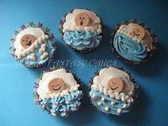 FANTASY CAKES: BABY BOY CUPCAKES