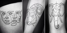 Artist creates elegant tattoos made from only one continuous line