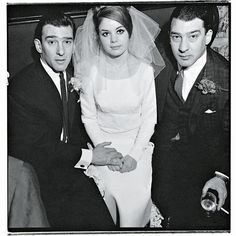 Reggie Kray, Frances Shea and Ronnie Kray in 1965