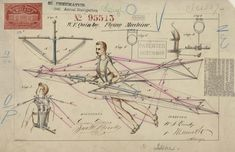 Patented Flying machine by W. F. Quinby (1869)