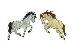 2 Pferdemotive geeignet für Kappen und T-Shirts  Artikelbeschreibung: Stickdateien = Digitale Stickmotive/Stickmuster für Stickmaschinen, bzw.
