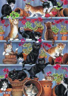 Flower Pots - Chrissie Snelling ~ So cute
