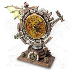Map the forces that govern the passing of eternity with the Stormgrave Chronometer Clock.Find unique steampunk gifts at Apollo Box. Steampunk Wings, Steampunk Desk, Steampunk Fashion, Steampunk Artwork, Steampunk Jacket, Steampunk Gadgets, Steampunk Drawing, Steampunk City, Steampunk Furniture