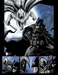 BatMan and Moon Knight Batman The Dark Knight, Marvel Moon Knight, Batman And Superman, Lego Batman, Black Cat Marvel, Marvel Comics, Marvel And Dc Crossover, Avengers, Batman Wallpaper
