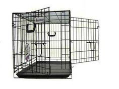 Pet Tek DPK86004 Dream Crate Professional Series 400 Dog Crate, 36 by 23 by 26-Inch, Black -- Trust me, this is great! Click the image. : Dog crates