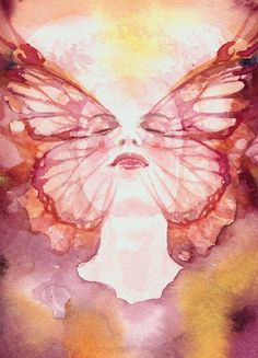 BUTTERFLY DREAMER by Ragen Mendenhall - I would love a full-print t-shirt of this! Hint hint.