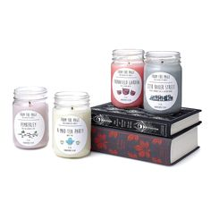 Named for the locations in literary classics, these soy candles evoke the book's most memorable moments.