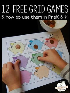 Kids can learn quantification, one-to-one correspondence and more with these free grid games for preschool!