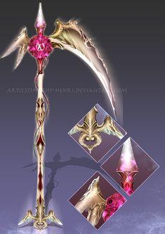 (CUSTOM) - Angelic Fleur Scythe for SilverAngel907 by Timothy-Henri.deviantart.com on @DeviantArt