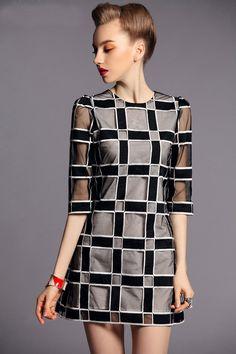Morpheus Boutique  - Black Color Block See Through 3/4 Sleeve Celebrity Gauze Dress, $129.99 (http://www.morpheusboutique.com/black-color-block-see-through-3-4-sleeve-celebrity-gauze-dress/)