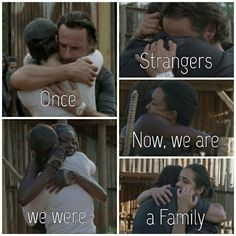 """Once, we were STRANGERS, now, we are a FAMILY."" Michonne, Maggie Rhee, Rick Grimes, Daryl Dixon, Tara Chambler, Sasha Williams □ Season 7 Episode 8 ■ Hearts Still Beating 