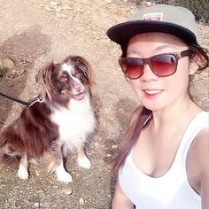My admirer he likes to be in photo with me  #hiking #pups #bigfan #mountain #puppylove #mybabyboy